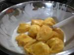 cempedak dimasukkan dalam bancuhan tepung